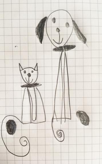 dibujo_gato_perro_Julia